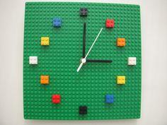 Lego wall clock by Honeypea on Etsy, £21.50