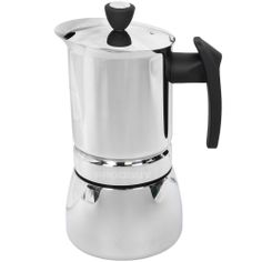 Grunwerg Café Olé Stainless Steel Stove Top Induction Espresso Coffee Maker Pot