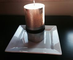 metal and velvet wrapped candle is perfect for the November glitz