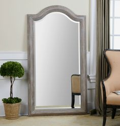 Conklin, Arched Leaner Mirror by Grace Feyock
