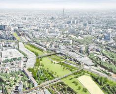 Park am Gleisdreieck, Berlin, atelier-Loidl – Corridor 2020 Green Corridor, Public Garden, Master Plan, Urban Planning, Creative Thinking, Aerial Photography, City Life, Landscape Architecture, Planer