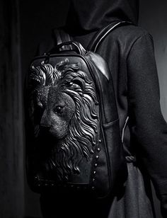 Faux Leather Lion Backpack from Press Play Clothing.