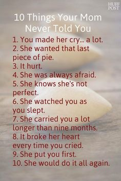 10 things your mom never told you