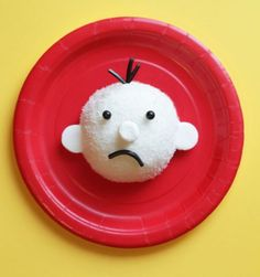 """Wimpy Kid Cakes · Edible Crafts   CraftGossip.com I have to find something other than a """"snowball"""" for Greg's head since hostess went out of business but it's really cute!"""