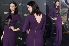 THE GOOD: I haven't seen Outlander (although it involves kilts, hot Scottish men and time travel so I'm bound to love it), but I've long been a fan of its star Catriona Balfe's unapologetically different red-carpet style. This Roland Mouret dress blends overt sexiness (mesh boob action) with a demure Tilda-Cate-covered-up-ness, and I think it really works. While I'm not the hugest fan of the middle-part hair, I'm too focused on that regal purple dress to truly care.