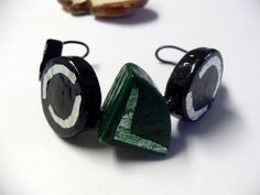 Items similar to HandCarved Avant garde Geometric Oak Cuff Black Green Aluminum Accent Cuff Circle Triangle Modern Cuff Natural Unisex Ecofriendly on Etsy Stylish Womens Suits, Suits For Women, Wood Bracelet, Well Dressed Men, Dressers, Scarfs, Purple, Pink, Belts
