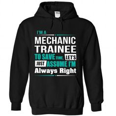 Mechanic Trainee - #customized hoodies #college sweatshirt. WANT => https://www.sunfrog.com/Funny/Mechanic-Trainee-2287-Black-Hoodie.html?id=60505