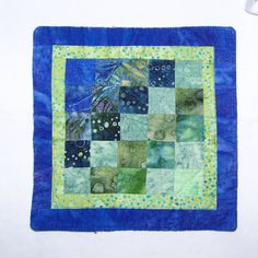 Coaster Mug Rug or Mini Quilt Scrappy Batiks in by Scrappyquilter, $6.00