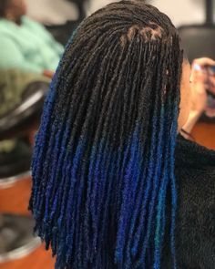 """963 Likes, 12 Comments - LOC LUST ™ (@loc_lust) on Instagram: """"L O C. L U S T™ Her hair looks amazing...she pulled this blue ting off so smooth . . #Locs…"""""""