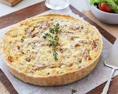 Quiche aux oignons, lardons et gruyère : http://www.cuisineaz.com/recettes/quiche-aux-oignons-lardons-et-gruyere-28771.aspx