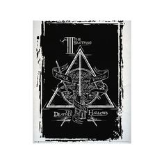 Harry Potter Deathly Hallows Graphic Mini Poster ($4.19) ❤ liked on Polyvore featuring home, home decor, wall art, movie wall art, mini movie posters, movie posters, mini poster and graphic posters