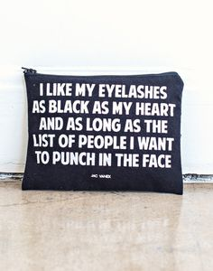 Black Eyelashes, Black Heart Pouch (BACKORDERED UNTIL JAN 15TH)