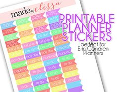 Printable Planner Stickers - For Erin Condren Planners - {PDF FILE}