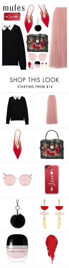 """""""Love For Mules"""" by arrow1067 ❤ liked on Polyvore featuring Essentiel, Little Mistress, Attico, Dolce&Gabbana, Vans, Casetify, Soia & Kyo, Isabel Marant, Marc Jacobs and By Terry"""