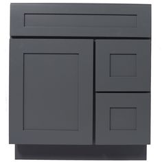 Customize the look and feel of your bathroom by adding any color and style sink and countertop onto this beautiful vanity. This wood vanity features a large storage cabinet with a soft closing door an