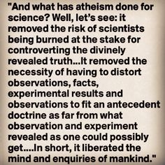 Grayling - what atheism has done for science #atheist