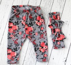 Here at MMofPhilly, were all about staying fashionably cute! And our baby girl clothes are nonetheless the cutest and most unique items! We love everything about florals, so why not wear an adorable baby floral leggings set?!  Baby girl clothes are fun and easy! Try add a super cute denim top to complete this look, or gift it as a baby shower gift! Either way, your little princess needs this set in her life! You can include the baby turban headband if youd like, in our opinion its a MUST…