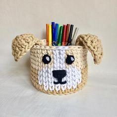 Crochet basket Dog