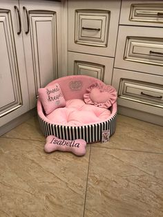 Excited to share this item from my shop: Baby pink and black striped princess dog bed Personalised dog bed Designer pet bed Cat bed Medium or small dog bed Baby pink puppy bed Puppy Room, Puppy Beds, Pet Beds, Princess Dog Bed, Pink Dog Beds, Personalized Dog Beds, Designer Dog Beds, Dog Beds For Small Dogs, Large Dogs
