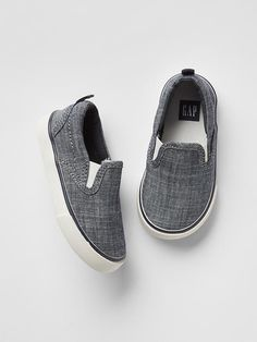 Chambray slip-on sneakers Product Image