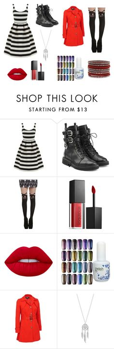 """""""Wonderland"""" by chelsealthegreat ❤ liked on Polyvore featuring Warehouse, Giuseppe Zanotti, Smashbox, Lime Crime, Lucky Brand and plus size clothing"""
