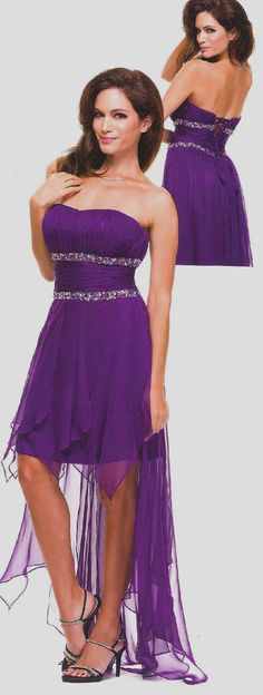 Prom Dress<BR>Winter Ball Dress under $120<BR>506<BR>Strapless high low dress beaded empire lace up back