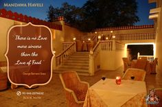 Make an evening worthwhile with scrumptious cuisines and romantic cool breeze at Mandawa Haveli. Book a table today!! #HeritageHotel #Royal #cuisines #restaurant #jaipur #resort #Summer #romantic #evening #CandleLightDinner