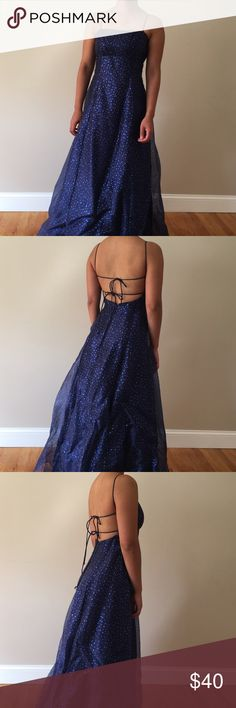Sparkly ✨ Blue Glitter Ball Gown/Prom Dress Pretty blue ball gown guaranteed to make you sparkle all night long. Worn once, in great condition!! Betsy & Adam Dresses