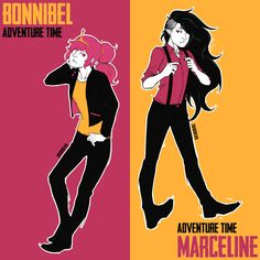Adventure Time, Princess Bubblegum & Marceline.