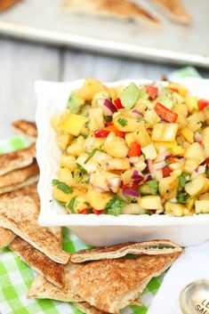 I loved this salsa. I can't wait to make it again! Grilled Pnieapple & Mango Salsa - Low Calorie, Low Fat, Healthy Appetizer, Dip