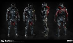 Pathfinder Armor set for MEA. Art Director: Joel Macmillan. Concept Artist: Brian Sum. Shader Artist: Nick Sadler.