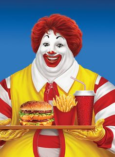 what ronald really looks like.  you know what they can do with that new technology