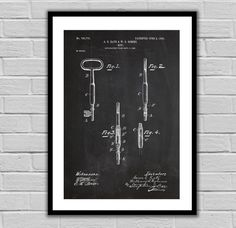 Skeleton Key Patent, Vintage Key Poster, Vintage Key Blueprint, Vintage Key Print, Vintage Key Art, Vintage Key Decor by STANLEYprintHOUSE  3.00 USD  We use only top quality archival inks and heavyweight matte fine art papers and high end printers to produce a stunning quality print that's made to last.  Any of these posters will make a great affordable gift, or tie any room together.  Please choose between different sizes and col ..  https://www.etsy.com/ca/listing/448577908/skele..
