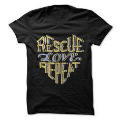 Rescue Love Repeat Black T-Shirts, Hoodies. SHOPPING NOW ==►…