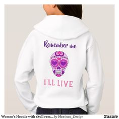 Women's Hoodie with skull remember me catrina
