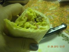 Breakfast Burritos Copycat McDonalds from Food.com:  These are my favorite, I make a ton at a time & freeze them for a super quick & tasty breakfast.  I use turkey sausage & add more onion & green chili.
