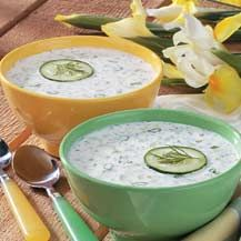 Chilled Cucumber Yogurt Soup without oil and Raisina is also favourite with Lunch and Dinner in India in hot & summer days,