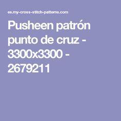 Pusheen patrón punto de cruz - 3300x3300 - 2679211