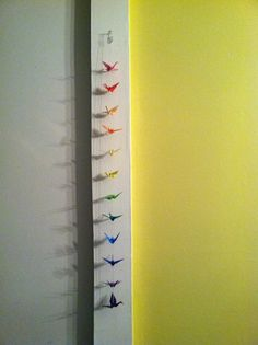 Handmade origami cranes strung to create an awesome hanging decoration     $4