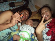 w/ my husband nd son's @home