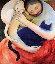 Pinzellades al món: Dones i gats: relació de tendresa / Mujeres y gatos: relación de ternura / Women and cats: loving relationship