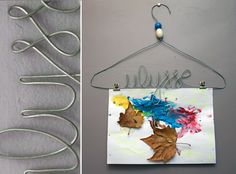 make a wire hanger with a name!