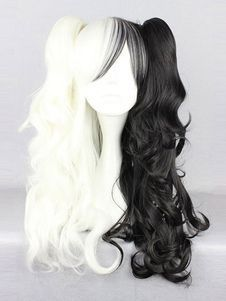 Danganronpa Monokuma Cosplay Wig Twintail Hairstyle Halloween – My CMS Kawaii Hairstyles, Box Braids Hairstyles, Winter Hairstyles, Short Bob Hairstyles, Hairstyles Haircuts, Halloween Hairstyles, Halloween Wigs, Danganronpa Monokuma, Anime Wigs