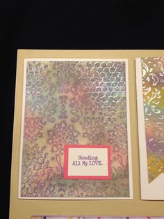WANDERFUL EMBOSSING CARD WORKSHOP, Tuesday, April 21, 2015, 6-9pm | Sandy VanNostrand