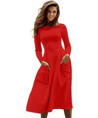 14345dbd48f4 Manzara SKATER RUHA MARIOLA piros Skater Dresses