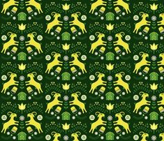 Spoonflower Fabric of the week voting: Goats (restricted palette)