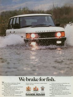 We brake for Fish. #landrover Great Advert