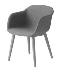 Muuto Fiber - Wood Base - Upholstery-Grey | mintroom.de #Muuto #mintroom