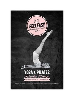 """FEELEASY"" Yoga & Pilates Studio by Ioanna Karlou, via Behance"