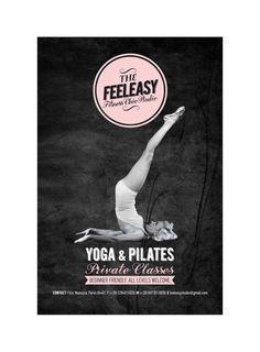 """FEELEASY"" Yoga & Pilates Studio by Ioanna Karlou, via Behance"
